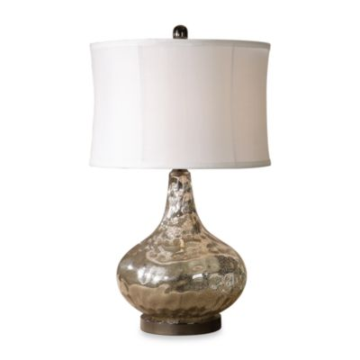Uttermost Polished Chrome Vizzini Glass Table Lamp