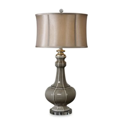 Uttermost Grey Ceramic Racimo Table Lamp