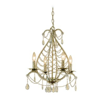 AF Lighting Belinda Teardrop Mini-Chandelier in Gold