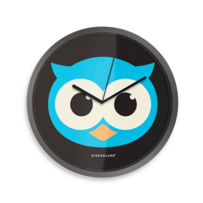 Glow- in -The-Dark Owl Wall Clock
