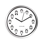 Kikkerland® Gentleman's Wall Clock