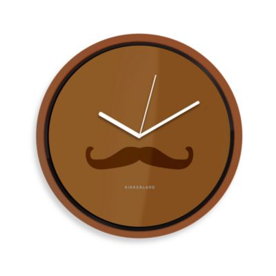 Kikkerland® Mustache Clock