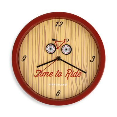 Kikkerland® Bicycle Wall Clock