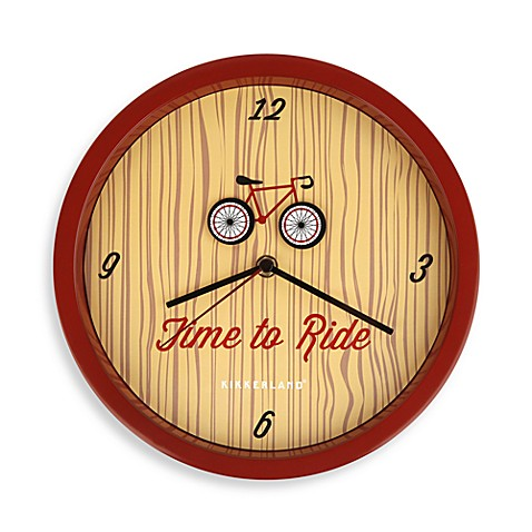 Buy Kikkerland 174 Bicycle Wall Clock From Bed Bath Amp Beyond