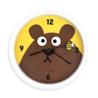 Kikkerland® Bear Eyes Wall Clock