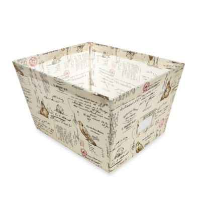 E-Z DO Passport Print Large Accessory Storage Bin
