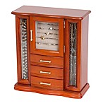 Mele & Co. Richmond Wood Jewelry Box in Walnut Finish