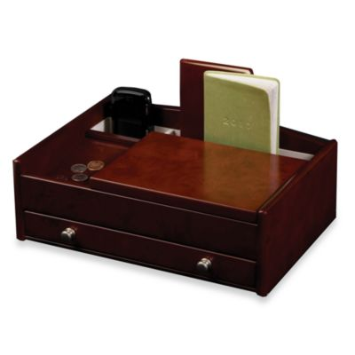 Mele & Co Davin Men's Dresser in Dark Burlwood Walnut