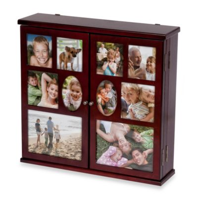 Mele & Co. Walnut Roxanne Hanging Photo Jewelry Chest