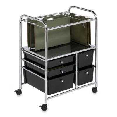 Honey-Can-Do Steel Rolling File Cart
