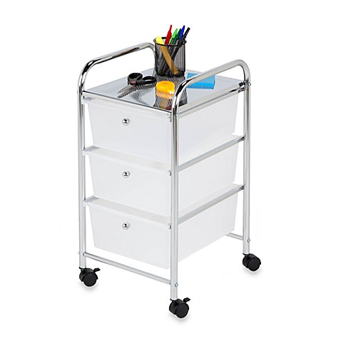 Model The HoneyCanDo Rolling Craft Storage Cart With Drawers Gives You Open Shelves, Compartments, And Ribbon Dowels, Plus Concealed Storage With 3 Slideout Drawers Caster Wheels Make It Easy To Move Around Its A Perfect Project