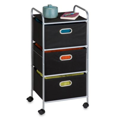 Honey-Can-Do Steel 3-Drawer Rolling Fabric Cart