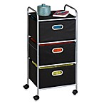 Honey-Can-Do® Steel 3-Drawer Rolling Fabric Cart