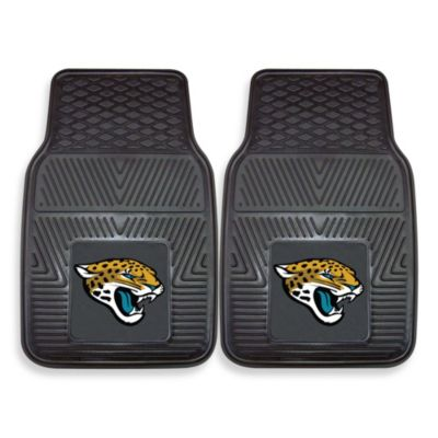 NFL Jacksonville Jaguars Vinyl Car Mats (Set of 2)