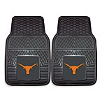 University of Texas Heavy Duty 2-Piece Vinyl Car Mat Set