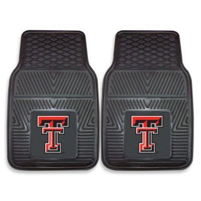 Texas Tech University Heavy Duty 2-Piece Vinyl Car Mat Set