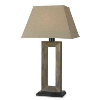 Kenroy Home Egress Indoor/Outdoor Slate Table Lamp