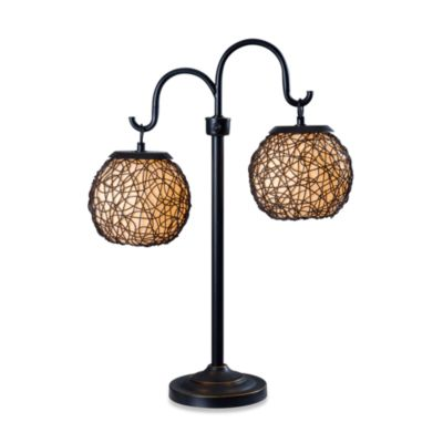 Kenroy Home Castillo Indoor/Outdoor Table Lamp in Bronze