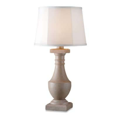 Kenroy Home Patio Indoor/Outdoor Coquina Lamp in Tan
