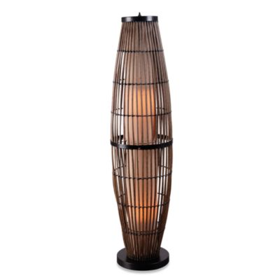 Kenroy Home Biscayne Indoor/Outdoor Rattan Floor Lamp