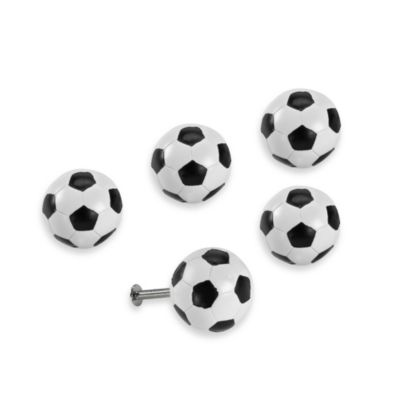 Kidz Decorative Door Knob in SoccerBall (Set of 4)