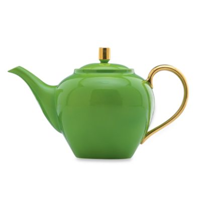 kate spade new york Greenwich Grove Green Teapot