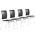 image of Zuo Modern Criss Cross Chair (Set of 4)