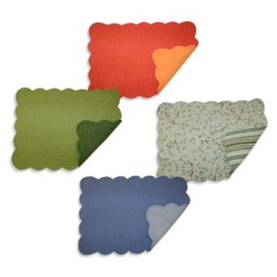 Quilted Reversible 100% Cotton Placemats