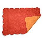 Reversible Quilted Placemat in Tangerine