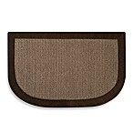 Microdry Chenille Linen Kitchen Mat in Chocolate