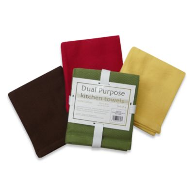 Dual Purpose 4-Pack Kitchen Towels in Multi