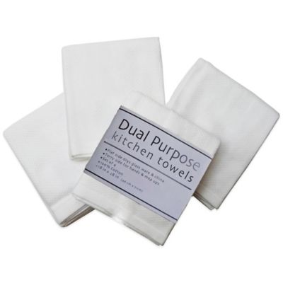 Dual Purpose 4-Pack Kitchen Towels in White
