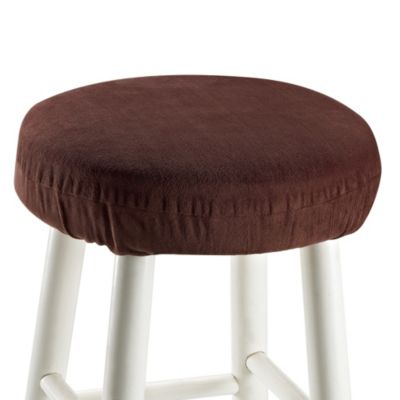 Memory Foam Barstool Cover in Chocolate