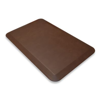 GelPro® NewLife Designer Comfort Leather Mat in Truffle