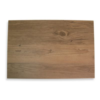 Butternut Faux Wood Hard Placemat