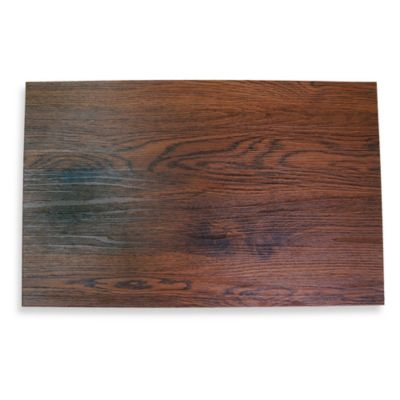 Cherry Wood Faux Wood Hard Placemat
