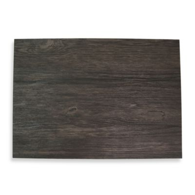 Ebony Faux Wood Hard Placemat