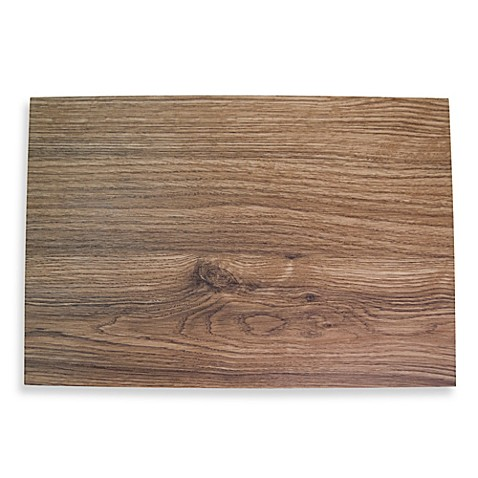 Maplewood Faux Wood Hard Placemat