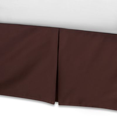 Real Simple® Retreat California King Bed Skirt in Chocolate