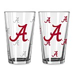 Collegiate Color Changing Logo Glasses (Set of 2) - University of Alabama