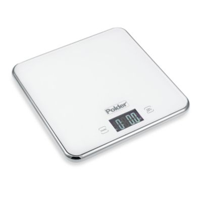 Polder® Glass Top 11 lb. Digital Food Scale in Black
