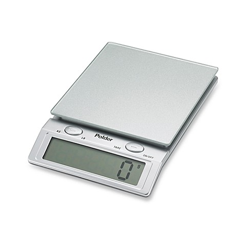 Polder® Glass Top 11-lb. Digital Food Scale