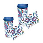 Tervis® Bohemian Flower Wrap Tumblers with Blue Lid