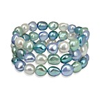 Honora Halo Baroque Fresh Water Cultured 7-8MM Pearl 7.5-Inch Stretch Bracelet (Set of 3)