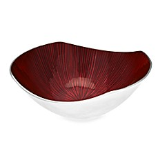 Simplydesignz Bodoni 12-Inch Bowl in Ruby Red