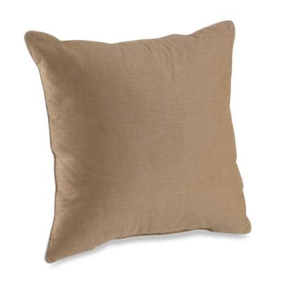 Montauk Square Throw Pillow in Linen