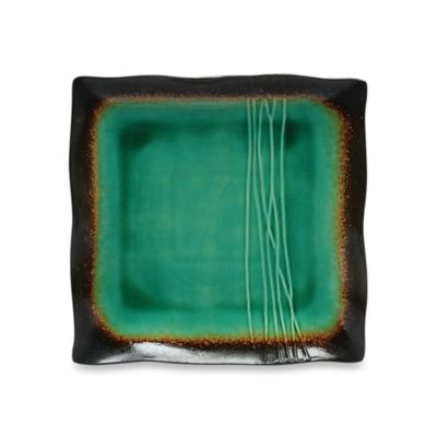 Baum Galaxy Square 8-Inch Salad Plates in Jade (Set of 6)