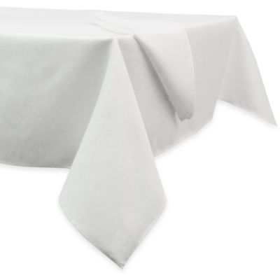 Basketweave Tablecloth - 52-Inch x 70-Inch - White