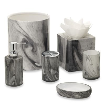 Marble Swirl Bath Toothbrush Holder