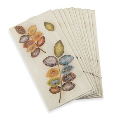 Croscill Mosaic Leaves 16-Pack Guest Towels